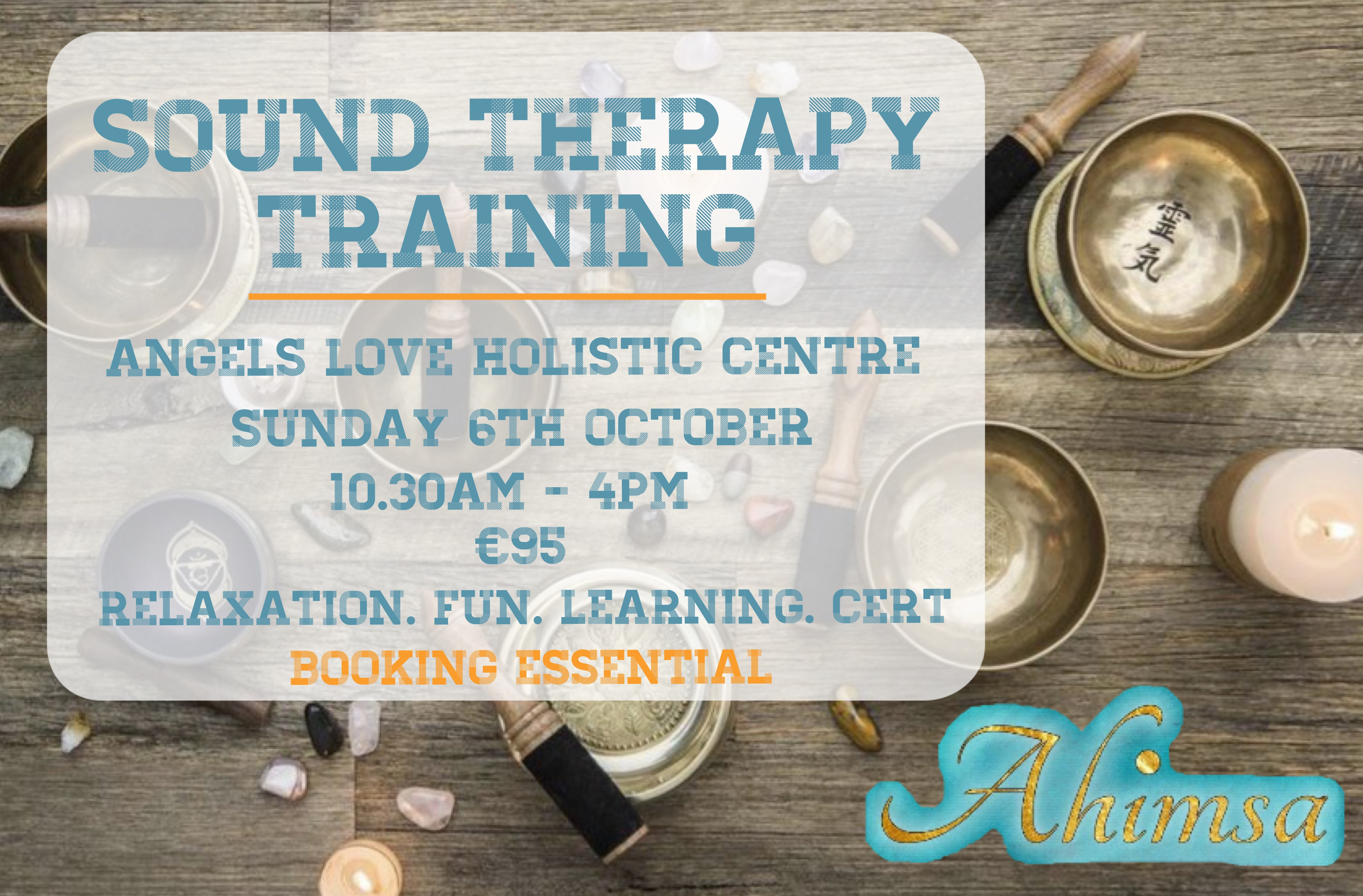 Foundation Level in Sound Healing Therapy (1 place left)